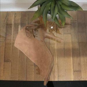 FOREVER 21 tan suede heels